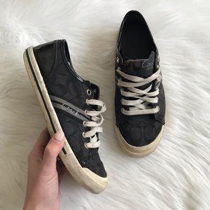 COACH Folly Signature Black Sneakers SZ 7.5